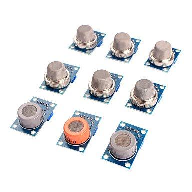 Arduino Kits, Gassensor mq-2 mq-3 mq-4 mq-5 mq-6 mq-7 mq-8 mq-9 mq-135-Sensor-Kit-Modul für Arduino Für (3 Modul Kit)