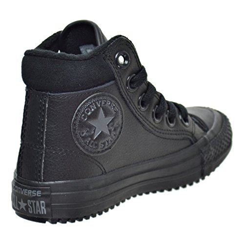 Converse Chuck Taylor All Star Weatherized Junior Antique Sepia Leather Ankle Boots Schwarz
