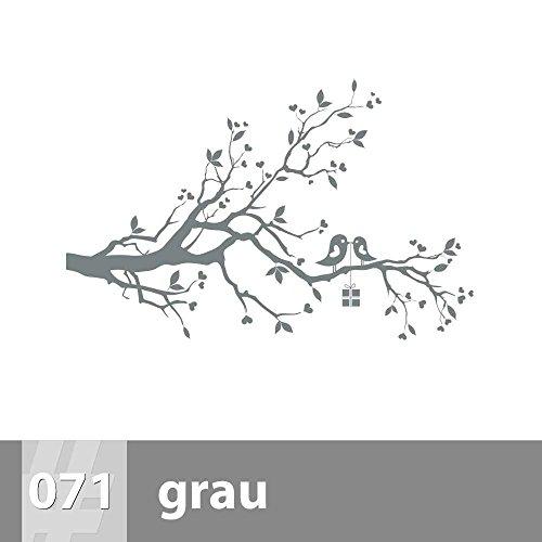 Hochwertig Vögel Auf Ast Wandtattoo 88cm X 57cm, L, 071 Grau