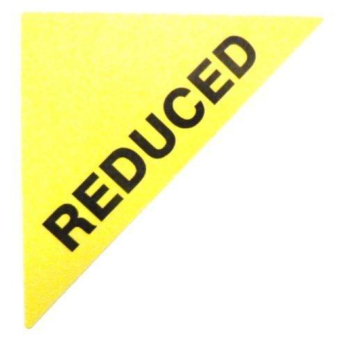 Etiquetas para Viviendas en venta , texto :reducido,amarillo,Triángulo Grande,inmuebles & ALQUILERES Agente pegatinas autoadhesivas