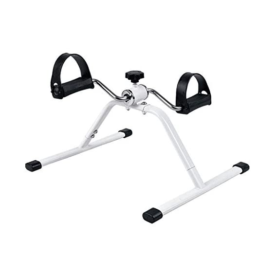 Klapp Pedal Exercise Mini Bike,Cycle Aid with Adjustable Resistance Ab Care King Toner (White)