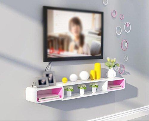 FIOFE- Fernsehmöbel Set-Top-gestell/Wandmontage gestell/Wandmontage-Box/Wohnzimmer Wand-gestell/Wandmontage Bedroom-gestellsystem/(140 * 15 * 20cm) Wandhalterungen