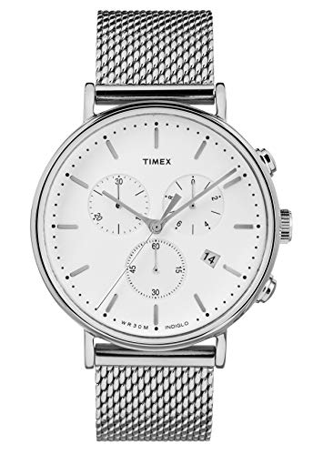 Timex Orologio Cronografo Quarzo Unisex Adulto con Cinturino in Acciaio Inox TW2R27100