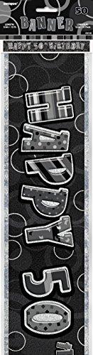 Unique Party- Cartel de 50 cumpleaños, Color negro, Edad (90785)