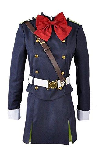 Seraph der Ende Mitsuba Sune Militär Uniform Halloween Cosplay Kostüm, Collegejacke, Blau