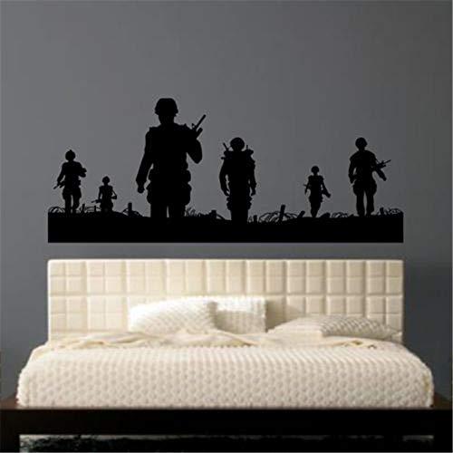 Wandtattoo Kinderzimmer Wandtattoo Wohnzimmer Armee Männer Soldat Man Aufkleber Aufkleber Hubschrauber für Kinderzimmer Kinderzimmer