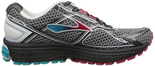 Brooks Ghost 8, Chaussures de Running Entrainement femme Blanc (anthracite/brightrose/bluebird 104)