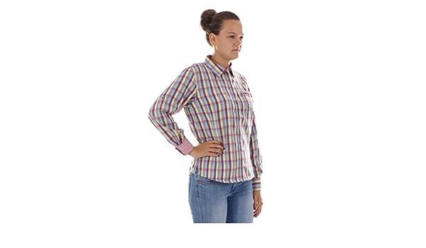CMP Bluse Karohemd Funktionsbluse lila Tasche Dryfunction CoolMax