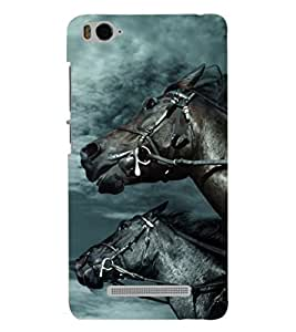 PRINTSHOPPII HORSE Back Case Cover for Xiaomi Redmi MI 4C::Xiaomi Mi 4C