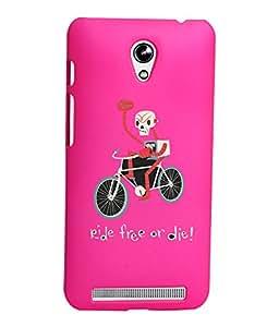 KolorEdge Printed Back Cover For Asus Zenfone C ZC451CG - Pink (1280-Ke15101ZenCPink3D)