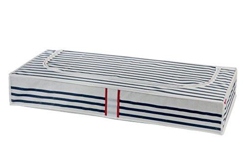 Compactor Marinière - Funda alamcenamiento, bajo cama,  100 x 45 x 15 cm