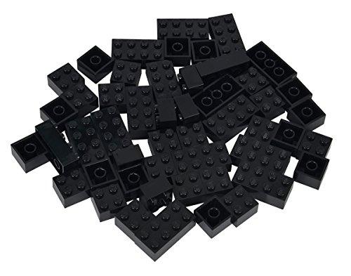Simba 104114126 - Blox 50 schwarze Steine in Folienbeutel