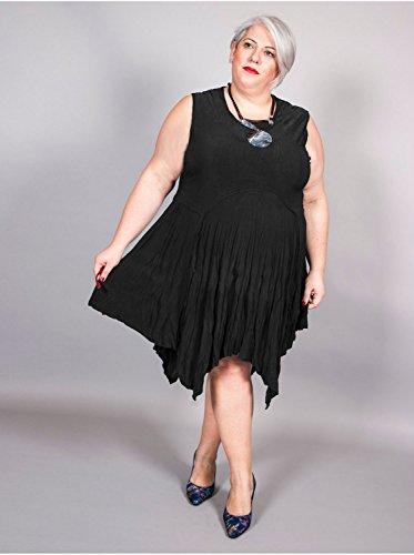 Vêtement Femme Grande Taille Robe Crinkle Noir Noir