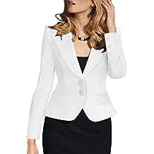 Mujer Elegant Blazers Abrigo OL Casual Cardigans Chaqueta Coat Cloak Otoño Outwear