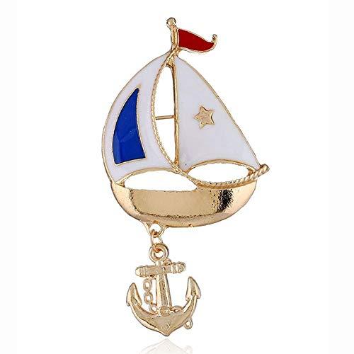 Y-XM 3*Brosche Segeln Halloween KostüM Piratenschiff Brosche Party Geschenk