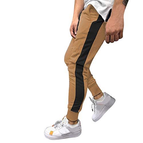 KaloryWee Jogginganzug Trainingsanzüge Freizeit Sports Hosen Herren Einfarbig Streifen Einfach Mode Junge Mann Sommer Atmungsaktiv Hose -