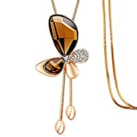 Women's Chain Rhinestone Butterfly Necklace