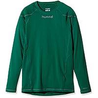 Hummel Underlayer Long Sleeve Jersey - Camiseta/Camisa deportivas para hombre, color verde oscuro, talla XL