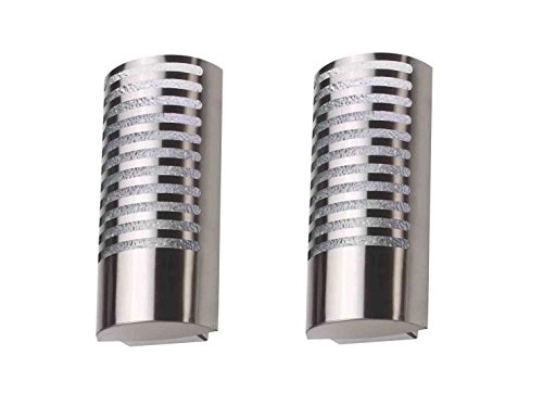 WhiteRay Metallic Cylindrical Wall Light(Set Of 2 Pcs)