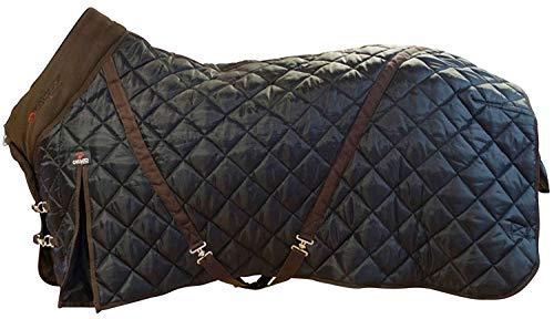 CATAGO Stalldecke 500g Füllung schwarz-braun 420D Cool Max Gehfalte Kreuzgurte (155 cm)