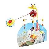 Musik Mobile Biene 34697 für Kinderbett, Laufstall, drehbar mit Fernbedienung