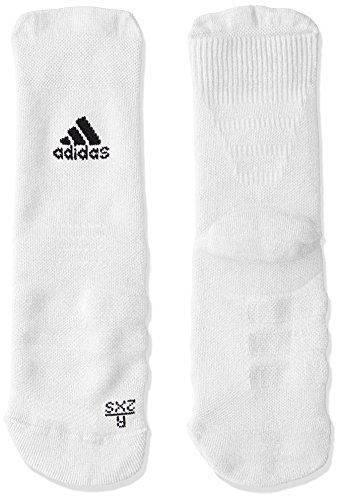 adidas Erwachsene Alphaskin Crew Maximum Cushionin Socken, White/Black, EU 40-42