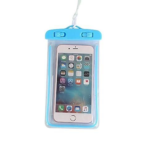 Diewu 2017General Sac étanche, activités de plein air avec une commune Dry Bag, Apple iPhone 6s 6,6s Plus, SE 5S, Samsung Galaxy S7, S6Notes 54, jusqu'à 15,2cm de diagonale–Multicolore