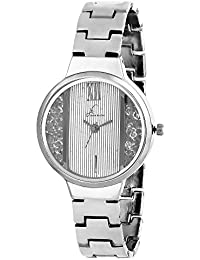 Jack Klein Stylish Fully Sliver Dial Metal Strap Analog Writ Watch for Women