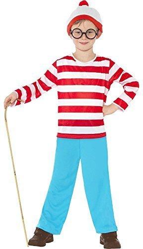 Kinder Wally Nerd Geek Kinder-Kostüm Kostüme und (Kostüm Kind Waldo Where's)