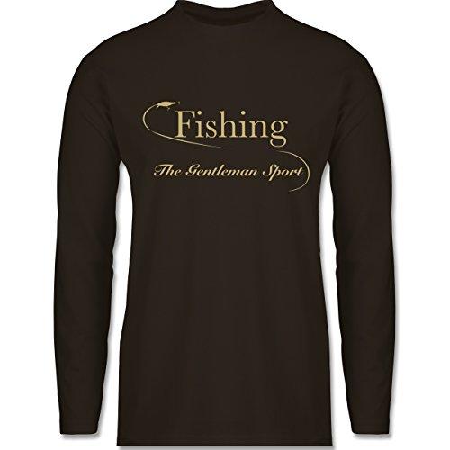 Angeln - Fishing - The Gentleman Sport - Longsleeve / langärmeliges T-Shirt für Herren Braun