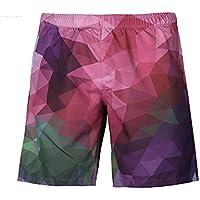 Männer 3D Print Farbe Plaid Shorts kreative Print Jugend Mode plus Größe Shorts europäische Größe S-4xl