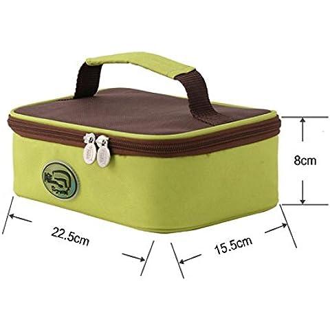 Portatile in alluminio imbottito all'aperto portatile auto isolamento impermeabile lunchbox pranzo borsa ghiaccio pack - Auto Lunch Box