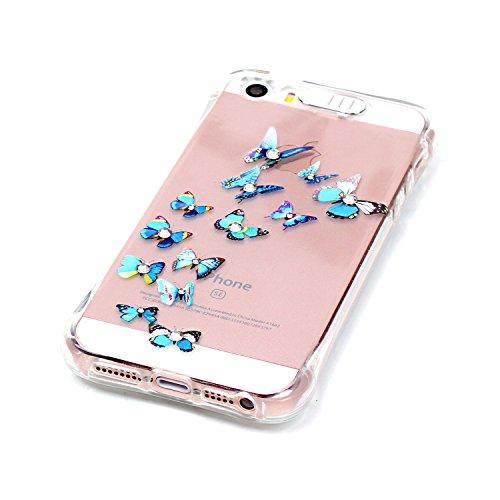 Coque iPhone SE, MOONCASE iPhone 5s Etui Ultra Mince Coque Housse Silicone Parfait Cover Case avec Absorption de Choc pour iPhone SE / 5S / 5 - YX02 Série de diamants - YX12