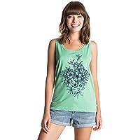 Roxy Tankbunch J Tees GJF0 - Camiseta para Mujer, Color Verde, Talla L