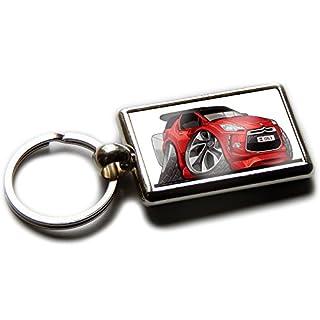 CITROEN DS3 Schrägheck offizielle Koolart Chrom Schlüsselanhänger Bild auf beiden Seiten wählen Sie eine Farbe., rot