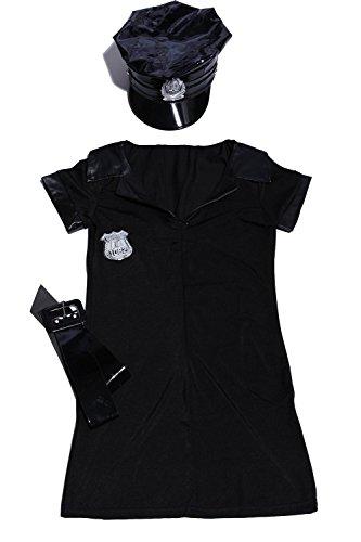 SODIAL (R) Kostüm Set einheitliche Theme policiere, Halloween Damen Fancy Dress (Einheitliche Kostüme Uk)