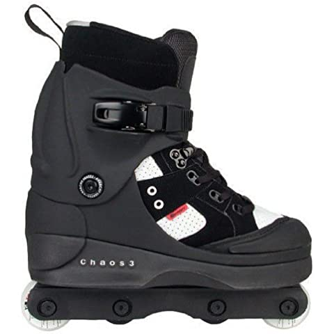 Anarchy Chaos 3 Aggressive Skates - Black - Size UK8 by Stateside Skates