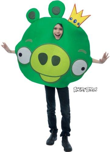 Bird Kind Kostüm T (Angry Birds Angry Birds King Pig Kostüm für Kinder)