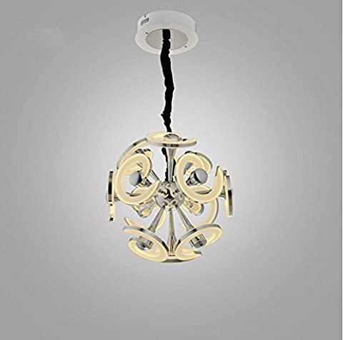 WSND Forme de Modern Love LED Light personnalité Lustre en acrylique Cafe Bar Salon Chambre Villa Pendant Lamp