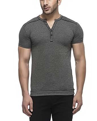 Tinted Men's Solid Slim Fit T-Shirt (TJ106RH_Anthera_Medium)