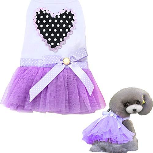 Hundekleid, Tutu-Rock für Hunde, Welpen, Katzen, süßer Prinzessinnenrock mit Spitze für Kuchen und Kuchen