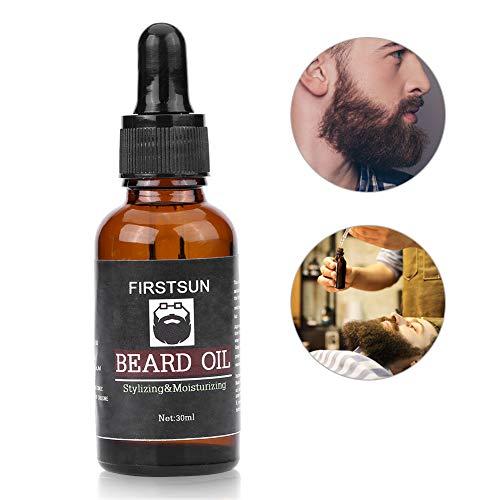 Huile À Barbe 30ml - Nourrit, Hydrate, Adoucit, Stimule la Pousse et Fait Briller - Pour l'entretien et le soin des Barbes Longues et Courtes
