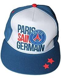 paris saint germain-casquette psg-bleu et blanche-garçon ou fille