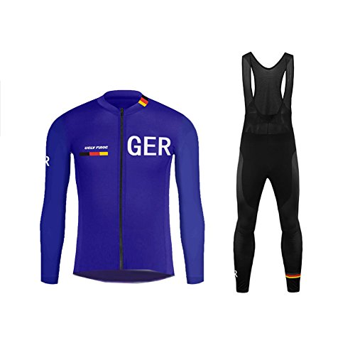 Uglyfrog Bike Wear Contry Code Sport Radsport Trikots & Shirts Long Sleeve+Bib Lange Hosen Kit Herren Fruhling Stil Bekleidung Atmungsaktiv Body