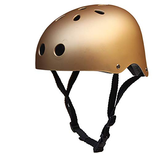 Children Es Gefrostet Skateboard Helm Bike Hat Street Dance Helm Roller Skating Outdoor Cycling Limit Schutzhelm,Gold