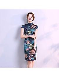 2875691ee0 YAN Vestido de Mujer Vestido Largo de Fiesta de Noche para Mujer Cheongsam  Qipao Cocktail Cocktail