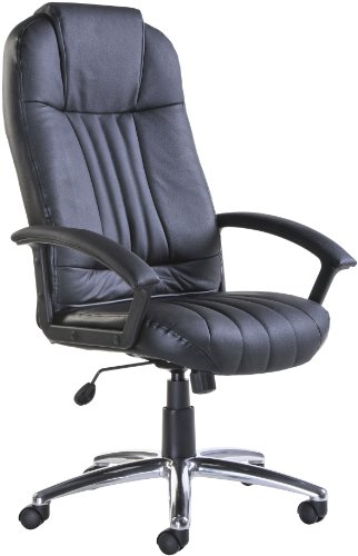 Leather Manager seating - Executive Leather Faced Manager Chair (MON300T1) H1140xW1235xD679 - Black
