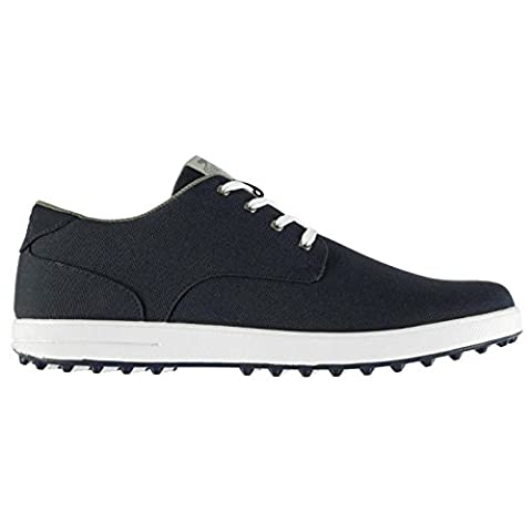 Slazenger Mens Canvas Spikeless Golf Lace Up Shoes Padded Ankle Collar Flexible Navy UK 8 (42)