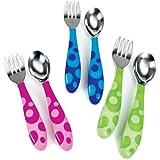 Munchkin Toddler Fork & Spoon Set 12 Months BPA Free (Blue)