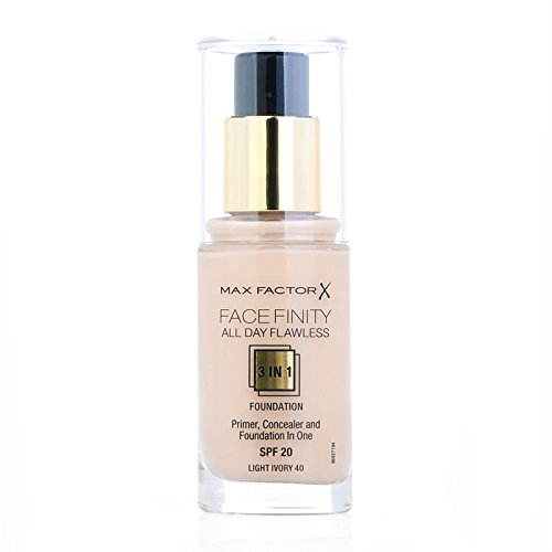 Max Factor Facefinity 3-in-1 All Day Flawless Foundation, SPF 20, Ivory 40, 30 ml